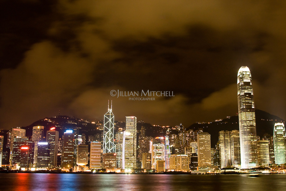 Stunning night views of Hong Kong's skyline and Victoria Harbour.