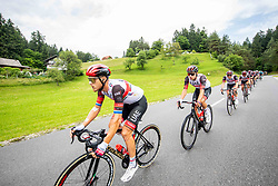 UAE Team with Tadej POGACAR of UAE TEAM EMIRATES during 2nd Stage of 27th Tour of Slovenia 2021 cycling race between Zalec and Celje (147 km), on June 10, 2021 in Zalec - Celje, Zalec - Celje, Slovenia. Photo by Vid Ponikvar / Sportida