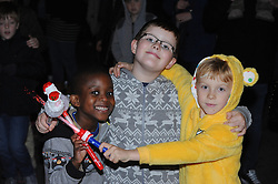 © Licensed to London News Pictures. 15/11/2013<br /> Young Fans enjoying the show.<br /> Bluewater,Kent. Christmas Light switch tonight (15.11.2013)<br /> with  Toby Antis, Justin Fletcher (Mr Tumble), Jahmene Douglas and X- factors Tamera Foster from this years show.<br /> Photo credit :LNP
