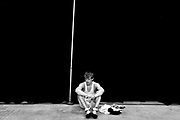 Cary's Nick Koren takes a moment after defeating Seventy First's Ryan Morris 8-5 after 3 periods in the finals at the state championship tournament in Winston-Salem on Saturday, Feb. 25th, 2006.
