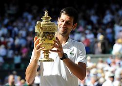 July 15, 2018 - Angleterre - Wimbledon - Novak Djokovic gagne Wimbledon (Credit Image: © Panoramic via ZUMA Press)