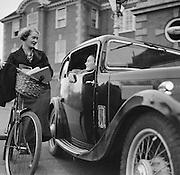 Car Outside Lady Margaret Hall, Oxford, England, 1935