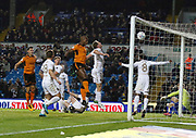 Goal scored by Wolverhampton Wanderers defender Willy Boly during the EFL Sky Bet Championship match between Leeds United and Wolverhampton Wanderers at Elland Road, Leeds, England on 7 March 2018. Picture by Paul Thompson.