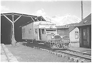 """RGS Goose #7 southbound at the west-facing portal of the Lizard Head snowshed.<br /> RGS  Lizard Head, CO  Taken by Small, Charles S. - 6/1941<br /> In book """"Rio Grande Narrow Gauge in the Summer of 1941"""" page 30"""