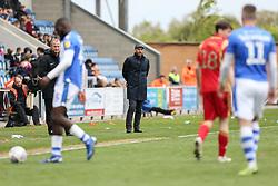Milton Keynes Dons manager Paul Tisdale looks on - Mandatory by-line: Arron Gent/JMP - 27/04/2019 - FOOTBALL - JobServe Community Stadium - Colchester, England - Colchester United v Milton Keynes Dons - Sky Bet League Two