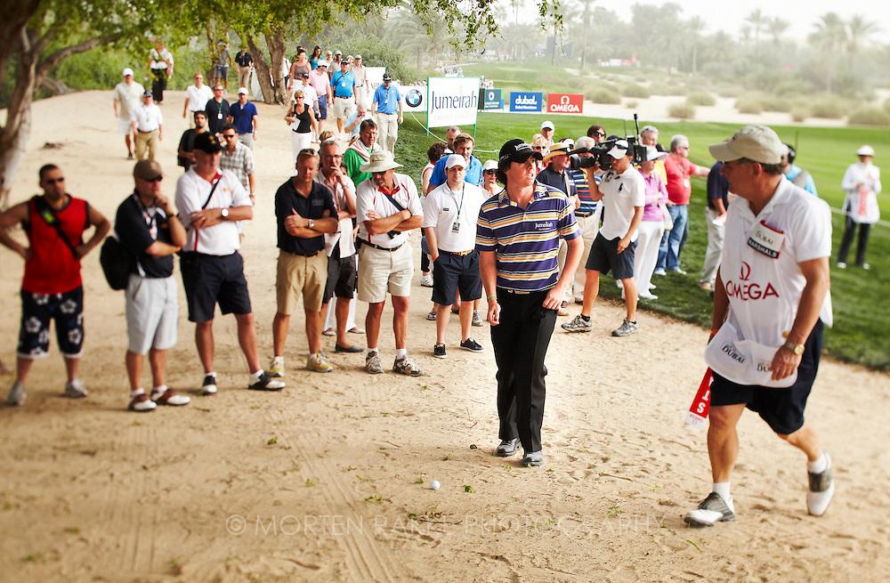 Dubai Desert Classic, 2010. Rory McIlroy, IRE. Photo by Morten Rakke