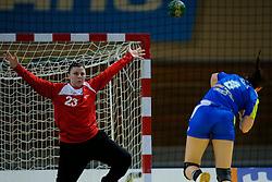 30-11-2012 HANDBAL: NEDERLAND - SLOVENIE: APELDOORN .WK Kwalificatie toernooi WK 2013 Omnisportcentrum Apeldoorn / Nederland wint met 24-23 - (L-R) Jasmina Jankovic, Neza Mitrusevska.©2012-FotoHoogendoorn.nl. (Foto by Ronald Hoogendoorn / Sportida)