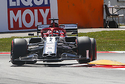 May 11, 2019 - Barcelona, Catalonia, Spain - Alfa Romeo Racing Ferrari driver Kimi Rikknen (7) of Finland during F1 Grand Prix qualifying celebrated at Circuit of Barcelona 11th May 2019 in Barcelona, Spain. (Credit Image: © Mikel Trigueros/NurPhoto via ZUMA Press)