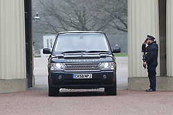 © Licensed to London News Pictures. 19/03/2020. London, UK. Queen Elizabeth II leaves Buckingham Palace as she travels to Windsor Castle to start her Easter break a week early. The move comes during the coronavirus pandemic as cases rise in the UK. Photo credit: Peter Macdiarmid/LNP