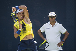 September 5, 2017 - New York, New York, USA - SEP 05, 2017: Rafael Nadal (ESP) and his Uncle Toni Nadal practicing during the 2017 U.S. Open Tennis Championships at the USTA Billie Jean King National Tennis Center in Flushing, Queens, New York, USA. (Credit Image: © David Lobel/EQ Images via ZUMA Press)