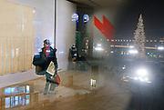 Milan, the '900 museum overlooking Piazza del Duomo. The Museo del Novecento (Museum of the Twentieth Century), located in the Palazzo dell'Arengario, is a public venue dedicated to the exhibition the display of Milan's collection of Twentieth-Century Art.<br /> A portion of this collection is displaied at the Casa Museo Boschi Di Stefano (Boschi Di Stefano House Museum), where some of the works donated by the Milanese collectors Antonio Boschi and Marieda Di Stefano are on exhibition.