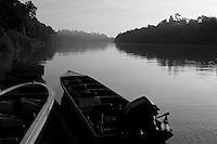 Dawn on the kinabatangan river.