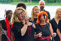 London International Gospel Choir  at the Also Festival 2021 at Cpmton Verney,photo by Mark Anton Smith<br /> .