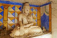 Myanmar (Birmanie), division de Sagaing, Monywa, grottes bouddhistes de Po Win Daung, temple troglodytiques, XIV siecle // Myanmar (Burma), Sagaing division, Monywa, Po Win Daung buddhist cave, 15 century