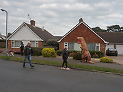 Georgia dressed as a dinosaur, , Bexhill on Sea,  April 1 2020