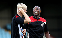 Arnold Garita and Hordur Magnusson of Bristol City arrives at Glanford Park for the EFL Cup fixture with Scunthorpe United - Mandatory by-line: Robbie Stephenson/JMP - 23/08/2016 - FOOTBALL - Glanford Park - Scunthorpe, England - Scunthorpe United v Bristol City - EFL Cup second round