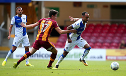 Byron Moore of Bristol Rovers goes past Alex Gilliead of Bradford City - Mandatory by-line: Robbie Stephenson/JMP - 02/09/2017 - FOOTBALL - Northern Commercials Stadium - Bradford, England - Bradford City v Bristol Rovers - Sky Bet League One