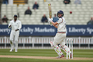 Nice shot from Yorkshire Gary Ballance  during the Specsavers County Champ Div 1 match between Warwickshire County Cricket Club and Yorkshire County Cricket Club at Edgbaston, Birmingham, United Kingdom on 24 April 2016. Photo by Simon Davies.