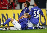 Jubel 2:1 v.l. Søren Larsen , Mladen Krstajic , Kevin Kuranyi <br /> Bundesliga FC Schalke 04 - 1. FC Kaiserslautern<br /> Norway only