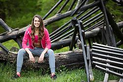 Sara Mitrakovic posing during official photo shoot of Miss Sporta Slovenije 2016, on April 23, 2016 in Tivoli, Ljubljana, Slovenia. Photo by Vid Ponikvar / Sportida