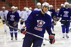Marcel Rodman at practice of Slovenian national team at Hockey IIHF WC 2008 in Halifax,  on May 06, 2008 in Metro Center, Halifax, Canada.  (Photo by Vid Ponikvar / Sportal Images)