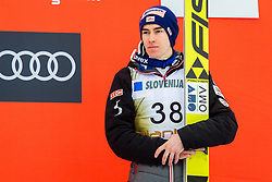 Stefan Kraft of Austria during flower ceremony after the Ski Flying Hill Individual Competition at Day 2 of FIS Ski Jumping World Cup Final 2018, on March 23, 2018 in Planica, Ratece, Slovenia. Photo by Ziga Zupan / Sportida