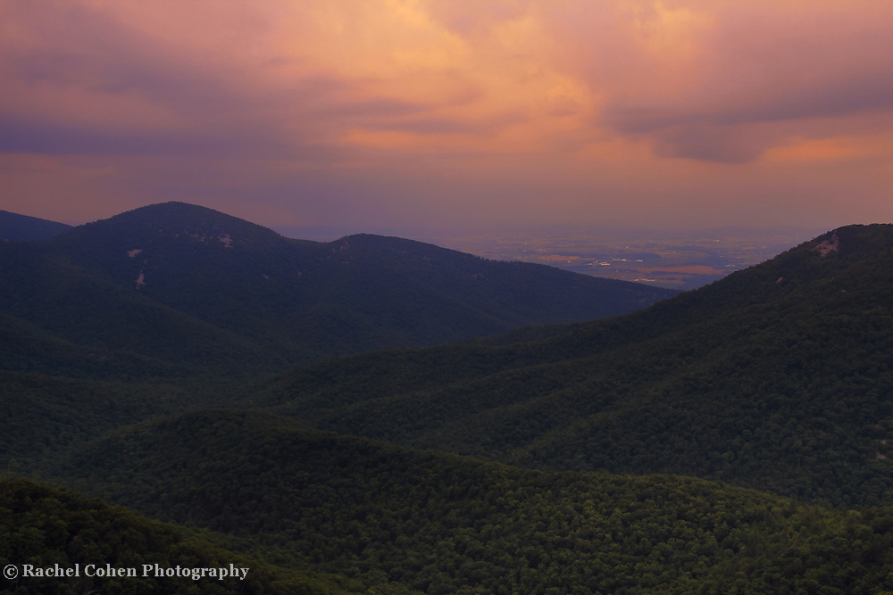 """""""Believe""""<br /> <br /> An amazing summer sunset over the Blue Ridge Mountains!"""
