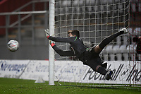 Football - 2020 / 2021 Emirates FA Cup - Round 2 - Stevenage vs Hull City - Lamex Stadium<br /> <br /> Stevenage's Jamie Cumming saves a penalty during the shoot out.<br /> <br /> COLORSPORT/ASHLEY WESTERN
