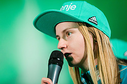 Katja Pozun during press conference of Slovenian Men and Woman national Ski Jumping team, on November 28, 2017 in Pivovarna Union, Ljubljana, Slovenia. Photo by Ziga Zupan / Sportida