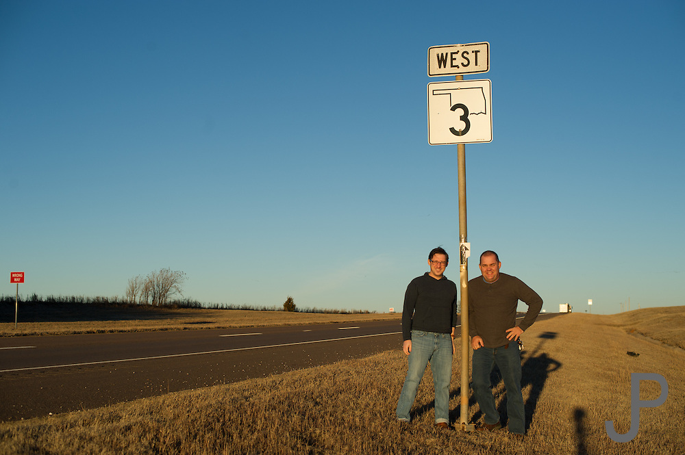 James Pratt and Nathan Gunter for Oklahoma Today story on Highway 3