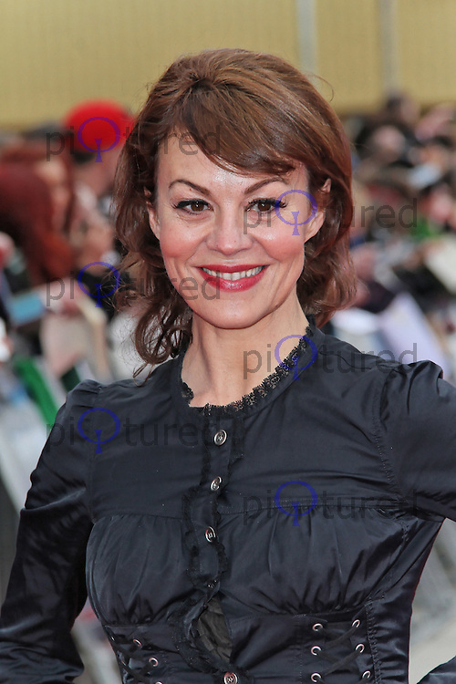 LEAVESDEN - MARCH 31: Helen McCrory attends the Worldwide Grand Opening of the Warner Bros. Studio Tour London  The Making of Harry Potter at Leavesden Studios, Watford, UK. March 31, 2012. (Photo by Richard Goldschmidt)