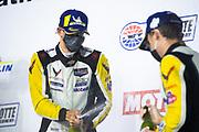 October 10, 2020. IMSA Weathertech, Charlotte ROVAL: #3 Corvette Racing Corvette C8.R, GTLM: Antonio Garcia, Jordan Taylor