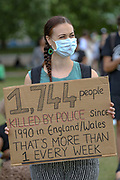 People, wearing protective masks against the spread of coronavirus, take part in a protest organised by Black Lives Matter, in Hyde Park, London, Saturday, June 20, 2020, in the wake of the killing of George Floyd by police officers in Minneapolis, USA last month that has led to anti-racism protests in many countries calling for an end to racial injustice. Anti-racism demonstrators are holding a fourth weekend of protests across the U.K., despite a ban on large gatherings because of the coronavirus pandemic. Demonstrations are taking place Saturday in cities including London, Manchester, Edinburgh and Glasgow. (Photo/ Vudi Xhymshiti)