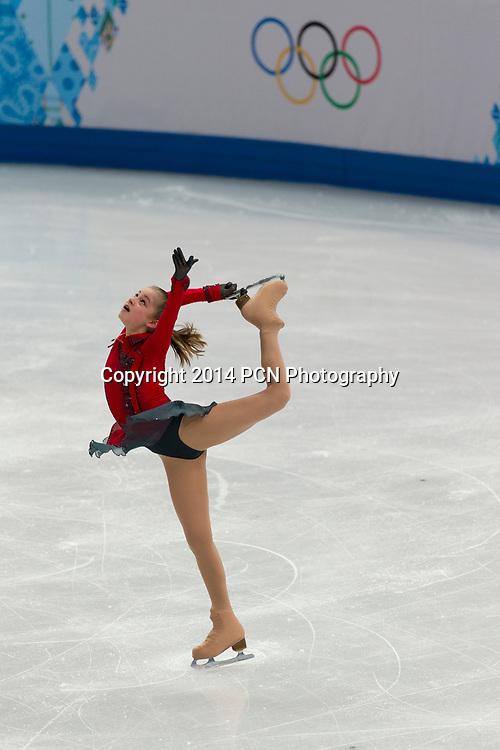 Yulia Lipnitskaya (RUS) competing in the Figure Skating Free Skate at the Olympic Winter Games, Sochi 2014