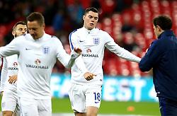 Michael Keane of England warms up - Mandatory by-line: Robbie Stephenson/JMP - 15/11/2016 - FOOTBALL - Wembley Stadium - London, United Kingdom - England v Spain - International Friendly