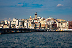 Galata Tower From Bosphorus, Istanbul
