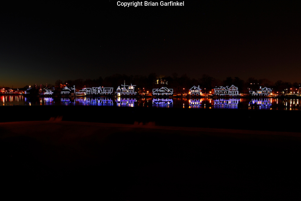 Boathouse Row at night in Philadelphia, Pennsylvania on Tuesday March 29th, 2011. (Photo By Brian Garfinkel)