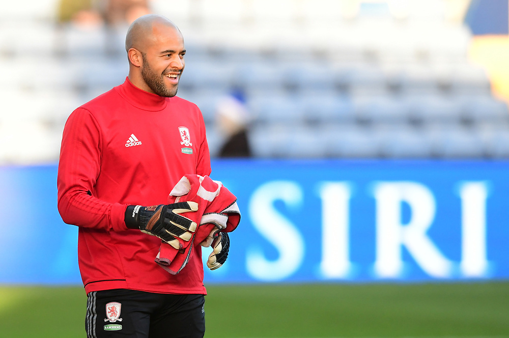 Middlesbrough's Darren Randolph during the pre-match warm-up<br /> <br /> Photographer Chris Vaughan/CameraSport<br /> <br /> The EFL Sky Bet Championship - Sheffield Wednesday v Middlesbrough - Saturday 23rd December 2017 - Hillsborough - Sheffield<br /> <br /> World Copyright © 2017 CameraSport. All rights reserved. 43 Linden Ave. Countesthorpe. Leicester. England. LE8 5PG - Tel: +44 (0) 116 277 4147 - admin@camerasport.com - www.camerasport.com