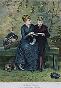 Brother and elder sister. Illustration 1883.