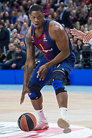 FC Barcelona Lassa Kevin Seraphin during Turkish Airlines Euroleague match between Real Madrid and FC Barcelona Lassa at Wizink Center in Madrid, Spain. December 14, 2017. (ALTERPHOTOS/Borja B.Hojas)
