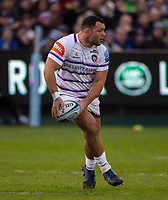 Leicester Tigers Ellis Genge<br /> <br /> Photographer Bob Bradford/CameraSport<br /> <br /> Gallagher Premiership Round 11 - Bath Rugby v Leicester Tigers - Sunday 30th December 2018 - The Recreation Ground - Bath<br /> <br /> World Copyright © 2018 CameraSport. All rights reserved. 43 Linden Ave. Countesthorpe. Leicester. England. LE8 5PG - Tel: +44 (0) 116 277 4147 - admin@camerasport.com - www.camerasport.com
