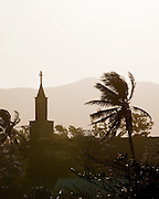 A local church in silhouette at Fort Dauphin, Madagascar