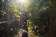 With their journals in hand, the group make their way deep into the Amazon jungle.