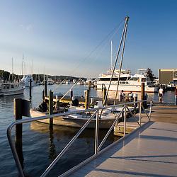 The marina in historic Essex, Connecticut.
