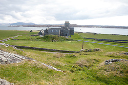 Iona Abbey..Iona is a small island in the Inner Hebrides off the western coast of Scotland. It was a centre of Irish monasticism for four centuries and is today renowned for its tranquility and natural beauty..©Michael Schofield..