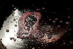 Questo mosto mostra i primi segni della fermentazione; la fuoriuscita di anidride carbonica forma delle evidenti bolle. Questa prima fermentazione viene detta tumultuosa proprio perchè la produzione di anidride è alta.