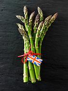 Stock photos of a bunch of fresh English asparagus spears . Funky stock photos images of English Asparagus