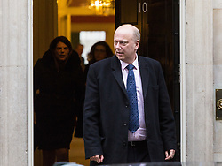 London - Transport Secretary Chris Grayling leaves the weekly meeting of the UK cabinet at Downing Street. January 23 2018.
