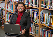 Martha Moreira poses for a photograph at Bellaire High School, November 25, 2013. Moreira was named Houston ISD Employee of the Month for December 2013.