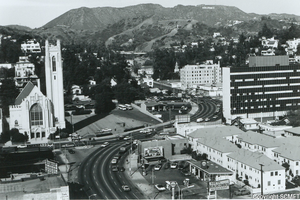 1970 Looking north up Highland Ave. towards Franklin Ave.